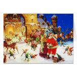 Santa & Mrs. Claus at the North Pole Christmas Eve Greeting Card