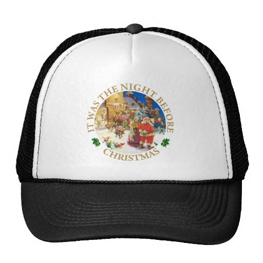 Santa & Mrs, Claus at the North Pole Christmas Eve Hat