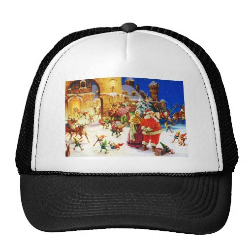 Santa & Mrs. Claus at the North Pole Christmas Eve Hat