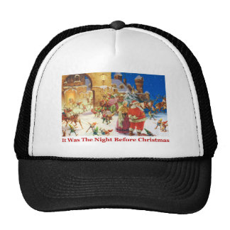 Santa & Mrs Claus Christmas Eve at the North Pole Trucker Hat