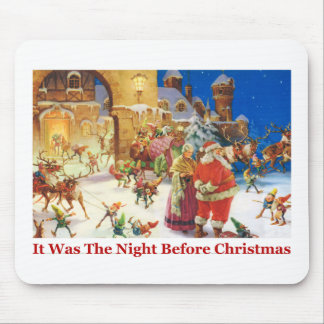Santa & Mrs Claus Christmas Eve at the North Pole Mouse Mat