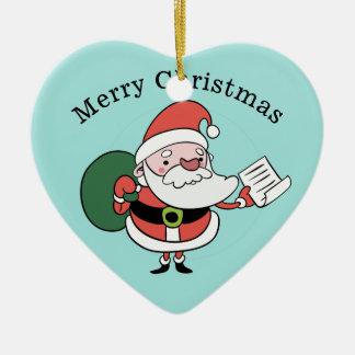Santa & Mrs. Claus custom ornament