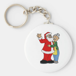 Santa & Mrs. Claus Key Ring