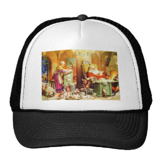 Santa & Mrs. Claus & the Elves Check His List Trucker Hat