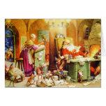 Santa & Mrs. Claus & the Elves Check His List Card