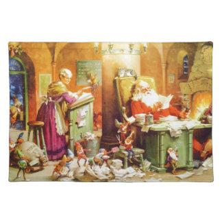 Santa & Mrs. Claus & the Elves Check His List Placemat