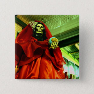 Santa Muerte 15 Cm Square Badge