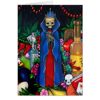 """Santa Muerte"" Greeting Card"