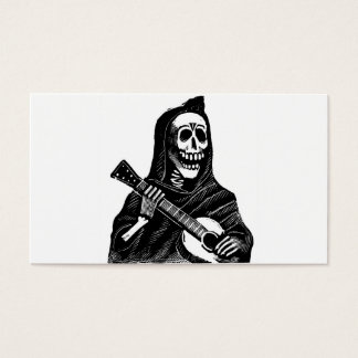 Santa Muerte (Mexican Grim Reaper) Playing Guitar Business Card