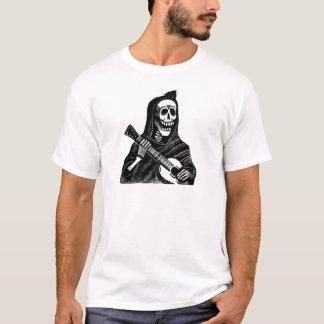 Santa Muerte (Mexican Grim Reaper) Playing Guitar T-Shirt