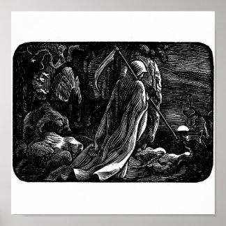 """""""Santa Muerte"""" (Mexican Grim Reaper) Poster"""