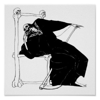 Santa Muerte Mexican Grim Reaper Posters