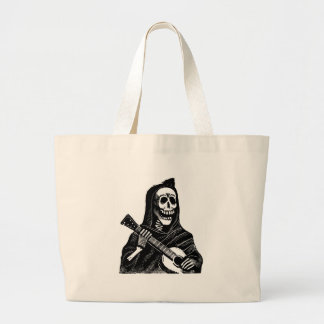 Santa Muerte with Guitar circa early 1900s Large Tote Bag