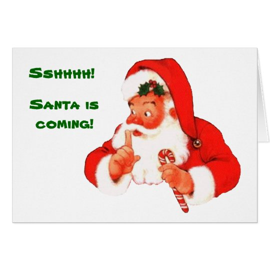 Santa Naughty or Nice Christmas Card