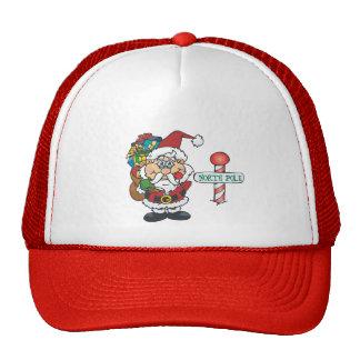 Santa North Pole Mesh Hats