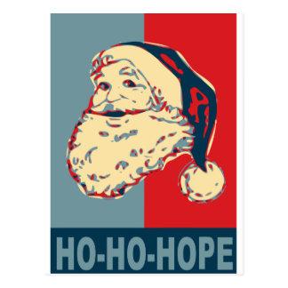 santa obama ho-ho-hope postcard