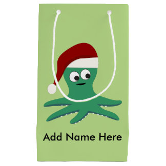 Santa Octopus Small Gift Bag