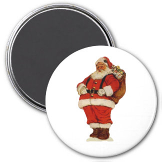 Santa Old Fashioned 2 7.5 Cm Round Magnet