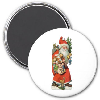 Santa Old Fashioned 7.5 Cm Round Magnet