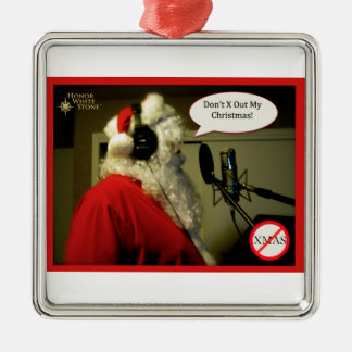 Santa on mic ornament