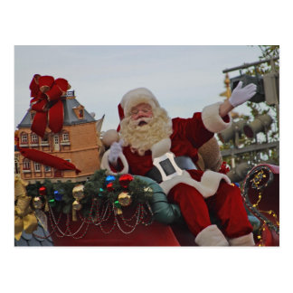 Santa on Parade Postcard