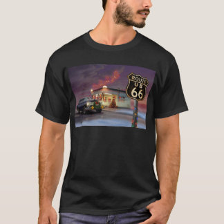 Santa on Route 66 T-Shirt
