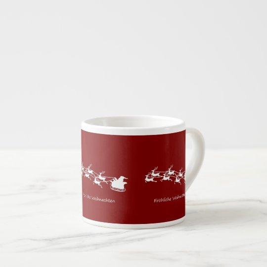 Santa On Sleigh Fröhliche Weihnachten Espresso Cup