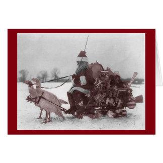 Santa on Sleigh Greeting Card