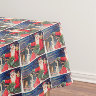 Santa on sleigh Thunder_Cove vintage Tablecloth
