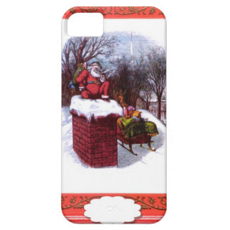 Santa on the chimney iPhone 5 covers