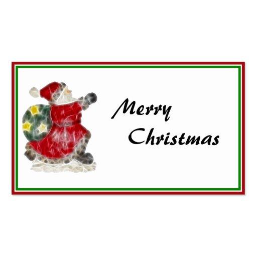 Santa on the Run! Business Card Templates