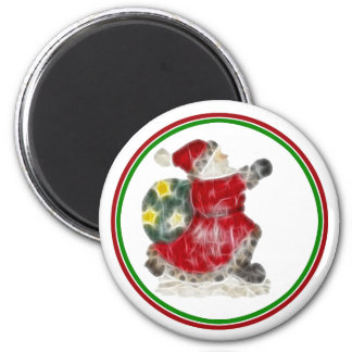Santa on the Run! Fridge Magnet