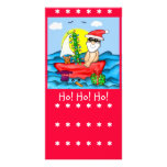 Santa on Vacation with Snow Buddy Book Mark