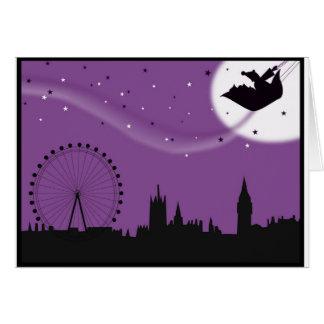 Santa over London - Christmas card