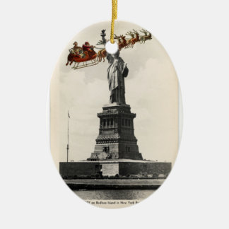 Santa Over New York American Christmas Ornament