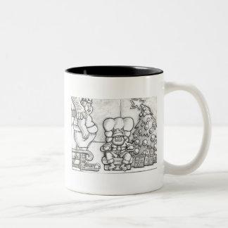 Santa Overmatched Two-Tone Mug