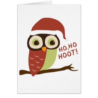 Santa Owl Ho Ho Hoot Christmas Cards
