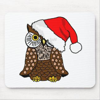 Santa Owl Mouse Mat