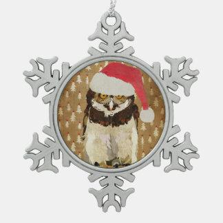 Santa Owl Ornament
