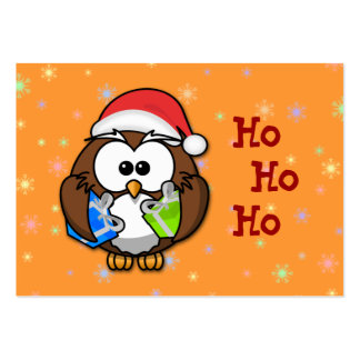Santa owl pack of chubby business cards