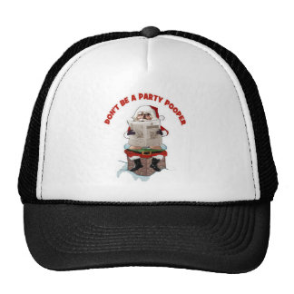 "Santa ""Party Pooper"" Funny Christmas Hat"