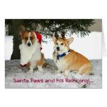 Santa Paws and his Reincorgi Greeting Card