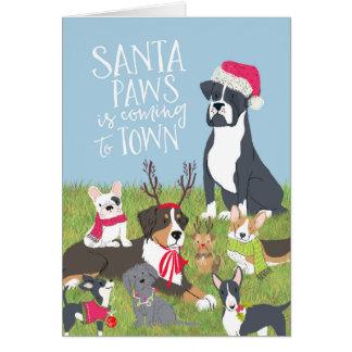 """Santa Paws"" Dog-Themed Christmas Card"
