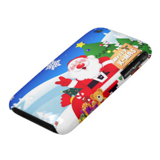 Santa Peace Sign Xmas Greetings iPhone 3 Case-Mate Cases