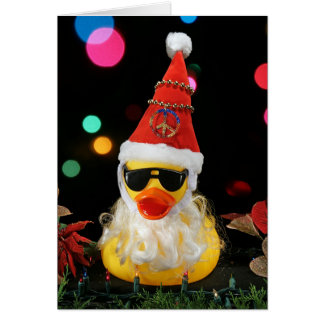 Santa Peacenik Greeting Card