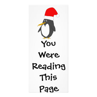 Santa Penguin Bookmark Template Rack Card Design