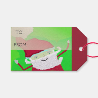 Santa + Personalise Text Gift Tags