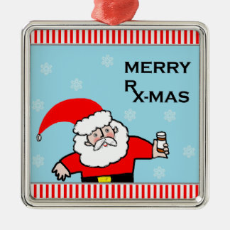 Santa Pharmacist Christmas Ornament