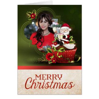 Santa Photo Christmas Card