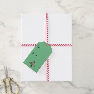 Santa Pig Gift Tag